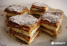 My Recipes, Sweet Recipes, Cake Recipes, Cooking Recipes, Hungarian Cake, Hungarian Recipes, Hungarian Food, Cracker Toffee, Homemade Crackers