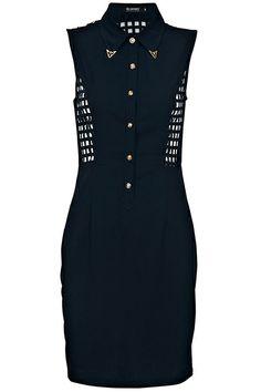 ROMWE | Hollow Plaid Black Dress, The Latest Street Fashion