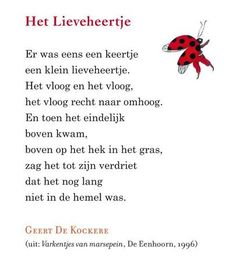 Het Lieveheertje - Geert de Kockere Respect Quotes, Me Quotes, Rhymes For Kids, Art For Kids, Poetry For Kids, Toddler Learning Activities, Social Stories, Drawing For Kids, Word Art