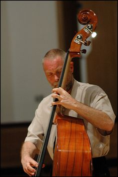 Dave Holland, 2006.  He's an English double jazz bassist, composer & band leader.  Photo Garry Corbett.