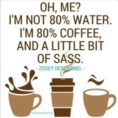 Coffee and sass Zooey Deschanel