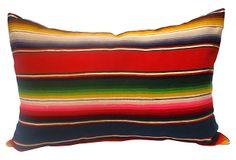 "Mexican Serape Striped Pillow  - 28""L x 22""H  -   OneKingsLane.com  -  ($675.00)  $255.00"
