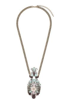 Topshop Layered Beads and Flower Necklace | Jewelry and Accessory