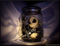 Jack Skellington hand painted holder, a present for a friend. More candle holders look, look, look! [link] Like me on pretty please > [link] Jack Skellington Candle Holder Jack Skellington, Halloween Crafts, Happy Halloween, Halloween Witch Hat, Witch Hats, Scary Halloween Decorations, Halloween Candles, Winter Decorations, Halloween Stuff