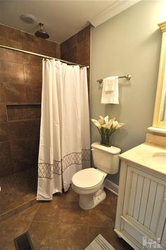 Pretty Bathroom Laundry Room Small Master Bathrooms Walk In Shower