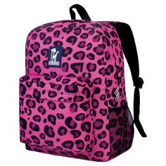 f53212462bd2 Wildkin Pink Leopard Crackerjack Backpack Interior moisture-resistant nylon  lining Adjustable padded straps Interior utility pockets and pencil holder  ...