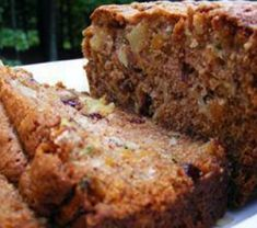 Bread, Zucchini Pineapple Bread, Moist Zucchini Bread Is Loaded With Bits Of Pineapple, Raisins, And Walnuts. Zucchini Pineapple Bread, Moist Zucchini Bread, Zucchini Bread Recipes, Zuchinni Bread, Recipe Zucchini, Healthy Zucchini, Banana Bread Recipes, Dessert Bread, Dessert Recipes