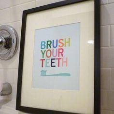 Brush Your Teeth - bathroom wall art print | ParadeAndCompany