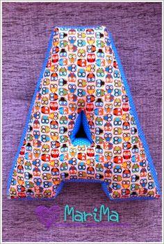 Текстильные: буквы - подушки, аксессуары и игрушки: Текстильные буквы - подушки