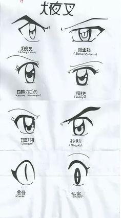 Inuyasha character eyes