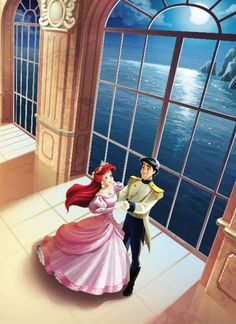 Ariel and Eric •• Always one of my favorite Disney couples. #TheLittleMermaid
