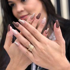 How to choose your fake nails? - My Nails Perfect Nails, Gorgeous Nails, Uñas Color Cafe, Cute Nails, Pretty Nails, Joy Nails, Fall Gel Nails, Black Acrylic Nails, Crazy Nails