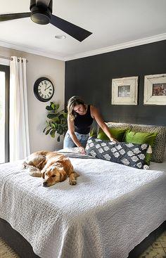 Budget-friendly ideas to spruce up your bedroom for summer! #summerdecor #summerupdates #summerbedroom #bedroomdecor Small House Decorating, Decorating Blogs, Summer Decorating, Bedroom Retreat, Bedroom Decor, Bedroom Ideas, Master Bedroom, Walmart Home, Summer Bedroom