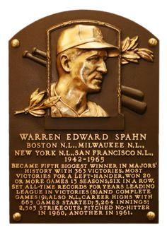 A star on a pitching mound and a hero on the battlefields, Warren Spahn excelled in two far different uniforms. Arguably the greatest southpaw pitcher in big league history, whose 363 triumphs makes him the all-time winningest left-handed hurler in the game, he used his mound mastery to gain admittance into the national pastime's most exclusive club – the National Baseball Hall of Fame – in 1973.