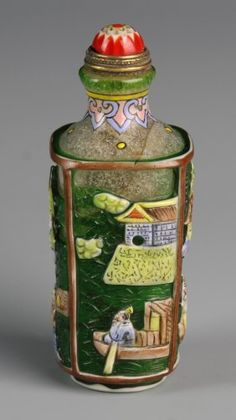 Peking Glass Snuff Bottle .