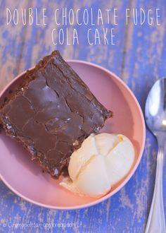Double Chocolate Fudge Coca-Cola Cake - a Cracker Barrel Copycat recipe from Cosmopolitan Cornbread | #SundaySupper