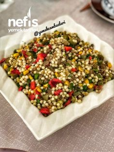 Lentil Couscous Salad to the the Salad Menu, Salad Dishes, Easy Salad Recipes, Easy Salads, Crab Stuffed Avocado, Cottage Cheese Salad, Couscous Salat, Seafood Salad, Tomato Vegetable