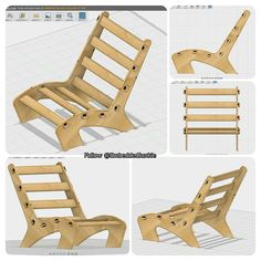Tonight I learned how to make a chair  I'm so proud of it! #fusion360 #autodesk #modeling #3dmodeling #cad #cam #makermovement #makerrevolution #makers #makersgonnamake #DIY #projects #hobby #3dprinting #3dmodel #lynda #wood #woodworking #chair