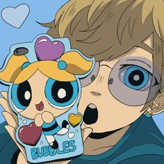 Boomer's phone case of Bubbles Power Girl, Power Puff Girls Z, Cartoon Drawings, Cool Drawings, Desenhos Cartoon Network, Super Nana, Anime Gifs, Cartoon As Anime, Ppg And Rrb