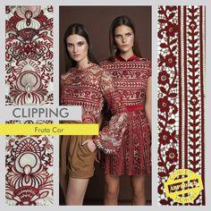 Clipping – Coleção Inverno 2016 Frutacor. Os artigos utilizados foram o Rococó e o Bovary, dois bordados lindíssimos e super elegantes. #concept #conceptfashion #concept_textil #fashion #textile #tecido #moda #tendência #trend #inverno #inverno2016 #looks #bordado #frutacor
