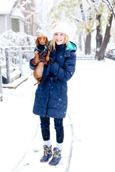 First Snowfall - Kelly in the City