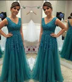 Vintage Prom Dresses, Lace Prom Dresses, Green Tulle #prom #promdress #dress #eveningdress #evening #fashion #love #shopping #art #dress #women #mermaid #SEXY #SexyGirl #PromDresses