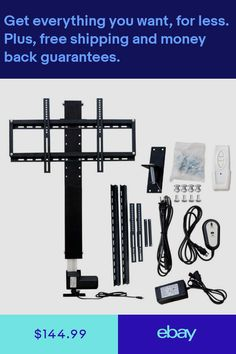 TV & Video Accessories Consumer Electronics #ebay Motorized Tv Lift, Entertainment Shelves, Screened In Porch Diy, Tv Wall Cabinets, Tv Unit Design, Tv Furniture, Home Tools, Boat Dock, Woodworking Projects Diy