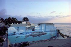 Robert Wyland, whale mural, Laguna Beach, California