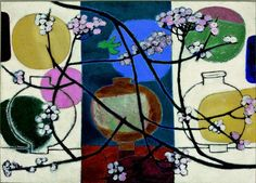 View Jars and Plum Blossoms By Kim Whanki; Oil on canvas; Access more artwork lots and estimated & realized auction prices on MutualArt. Art Painting, Blossom, Asian Art, Korean Art, Oil On Canvas, Painting, Art, Artsy, Kinder Art