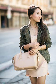 Camo jacket + Nightie :)