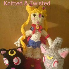 SAILOR MOON, LUNA, DIANA Sailor Moon, Crochet Necklace, Christmas Ornaments, Holiday Decor, Diana, Jewelry, Characters, Fashion, Amigurumi
