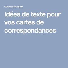 Idées de texte pour vos cartes de correspondances