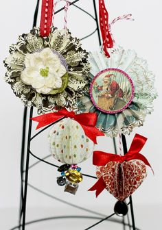 Vintage Pinwheels for the tree