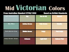 Paint colors on Pinterest Victorian Wall Murals and