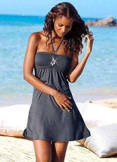 LASCANA Grey Halter Neck Dress
