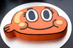 Darwin Cake- Amazing World of Gumball Cartoon Network Teen Cakes, Cakes For Boys, Pastel Minecraft, Cartoon Network, Amazing Gumball, Lego Cake, World Of Gumball, Cute Cakes, Creative Cakes