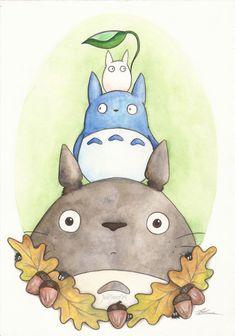 Totoro and Friends. Studio Ghibli Inspired 6 X 4 Print. Artwork by Jade Jones Studio Ghibli Art, Studio Ghibli Movies, Bff Drawings, Kawaii Drawings, Chibi, Totoro Drawing, Personajes Studio Ghibli, Girls Anime, My Neighbor Totoro