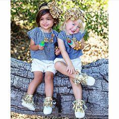 By: @foreverandforava  Moms @mfoley1984 @savv_soutas  #Little #Girls #Fashion #Model #Beautiful #Perfect  follow @kidsbabylove and #kidsbabylove for a possible feature  Shirt & Shorts: @houseintheorchard  Moccs: @goldendotmoccs  Bows: @mylittlemissco  Necklaces: @lolaanddarla  Bracelets: @makschicbowtique PC: @littleredrosephotography