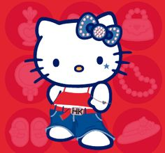 Hello Kitty hip hop style