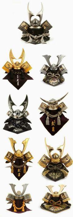 Variedad de cascos samurai.                                                                                                                                                                                 Más