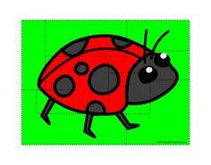 kids printable puzzles-Ladybug