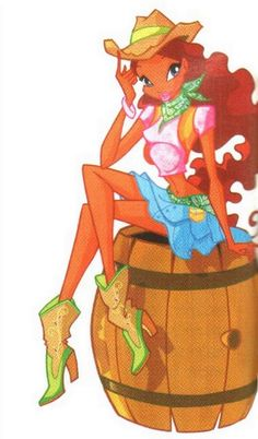 Photo of Layla cowgirl for fans of The Winx Club 14436470 Winx Club, Winx Magic, Disney Furniture, Cowgirl Photo, Les Winx, Princess Coloring Pages, Bloom, Anime Base, Cowgirl Outfits