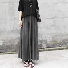 Cheap fashion long skirt, Buy Quality long fashion skirts directly from China long skirt Suppliers:  [xlmodel]-[custom]-[31077]     Description      Long Skirts For Women Solid Summer 2016 Vintage Pleated Slim New Fashio