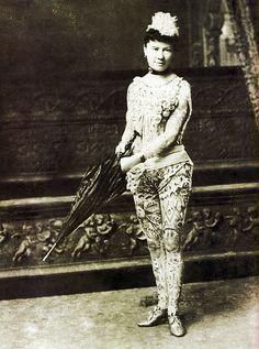 tattooed woman ... antique photograph