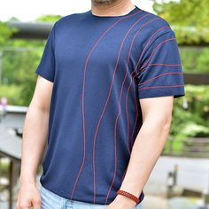Embroidered handcrafted t-shirt. Original pattern. No collar
