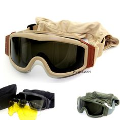#AliExpress Top Quality Military Airsoft Tactical Goggles Shooting Glasses GX1000 Black 3 Lens Motorcycle Windproof Wargame Goggles  (32678368535) #SuperDeals
