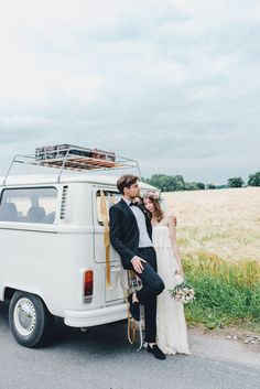 Photo by kreativ wedding DIY wedding midsummer field shooting flowercrown dress daughtersofsimone vw bully travel