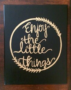 Enjoy The Little Things - Sorority Canvas - Big and Little - Canvas Quote Painting - Home Decor - Wall Art by HolyCityHailey on Etsy (Diy Home Decor Canvas) Big Little Week, Big Little Gifts, Canvas Painting Quotes, Canvas Quotes, Diy Canvas, Wall Canvas, Canvas Ideas, Canvas Art, Big Little Canvas
