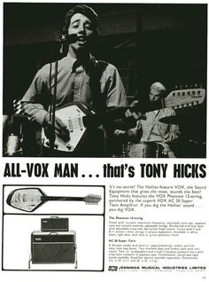 Tony with his Vox Phantom XII in an ad from 1965