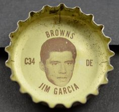 Coca Cola NFL Cleveland Browns Bottle Cap - Jim Garcia